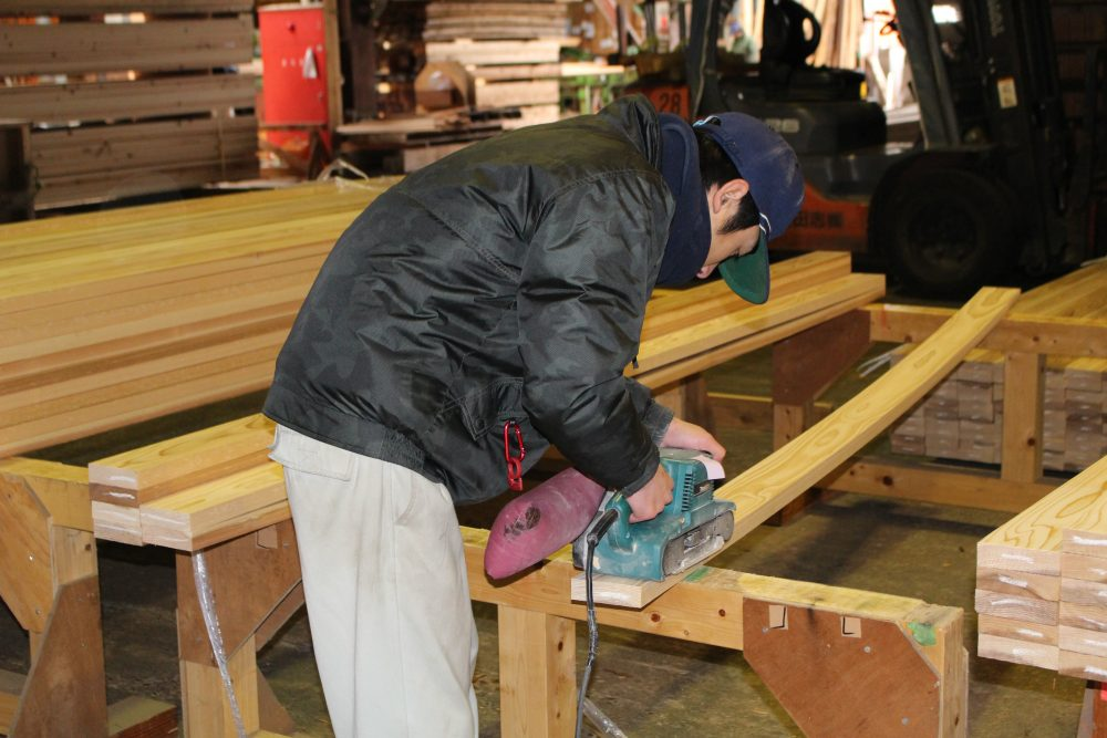 志田材木店の仕事風景