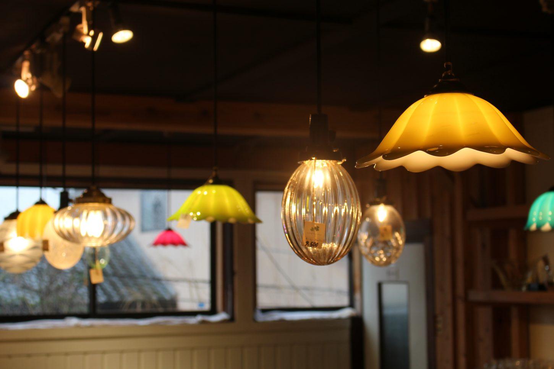 秋葉硝子、照明、ショップ